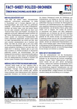 """Faltblatt """"Fact-Sheet: Polizei-Drohnen"""""""