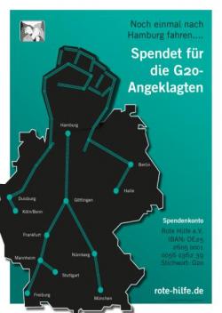"""Flyer, Postkarten und Sticker """"G20-Kampagne"""""""
