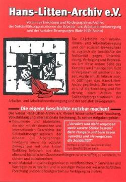 "Flyer ""Hans-Litten-Archiv"""