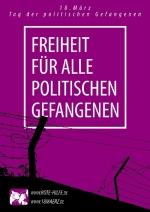 """Postkarte """"Freiheit für alle politischen Gefangenen"""""""