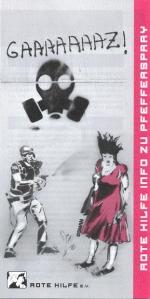 "Flyer ""Rote Hilfe Info zu Pfefferspray"""