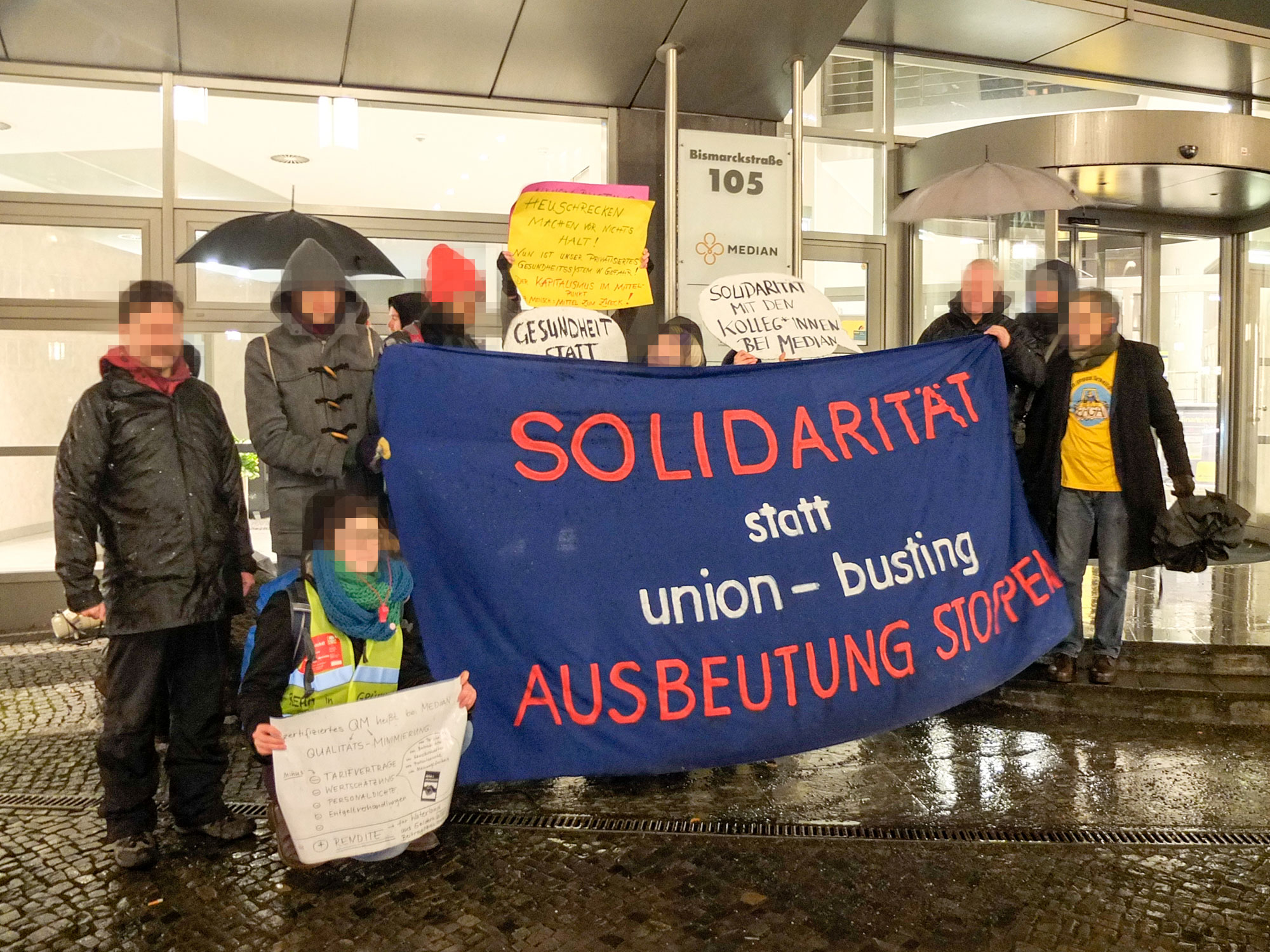 MedienProtest Klassenkampfblock