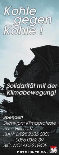 Kohle statt Kohle! Solidarität mit der Klimabewegung